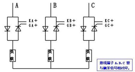 三相半控交流调压电路星型接线图